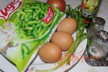Ингредиенты Фасоль жаренная с яйцами
