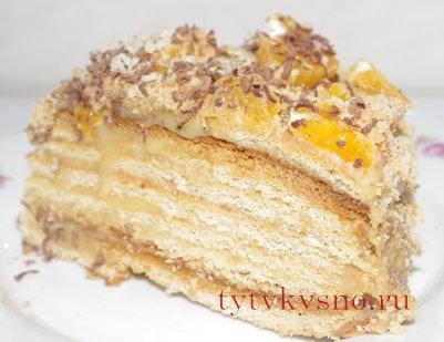"""Медовый торт """"Рыжик"""" неимоверно вкусный"""