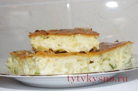 Вкусный Быстрый заливной пирог с капустой.