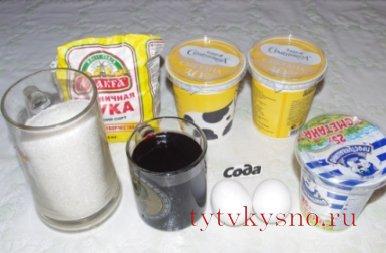 """Ингредиенты рецепта Торт """"Смородинка"""""""