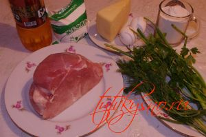 Ингредиенты рецепта: Куриные оладьи с сыром на кефире.