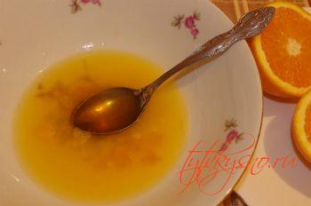 Свинина в апельсиново-соевом соусе.