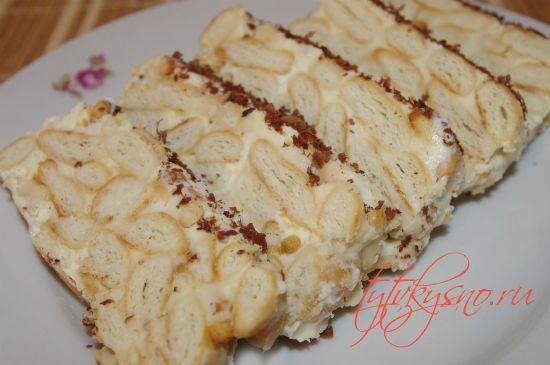 """фото Торт из печенья """"Рыбки"""" без выпечки"""