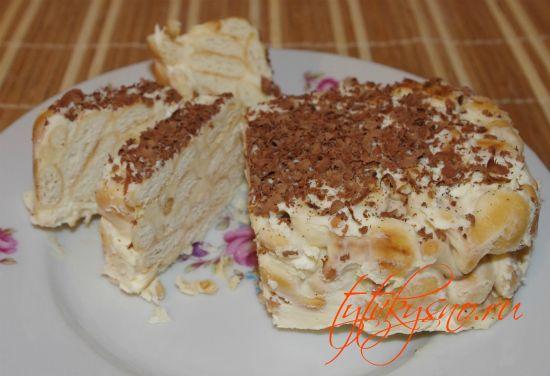 """фото рецепт Торт из печенья """"Рыбки"""" без выпечки"""