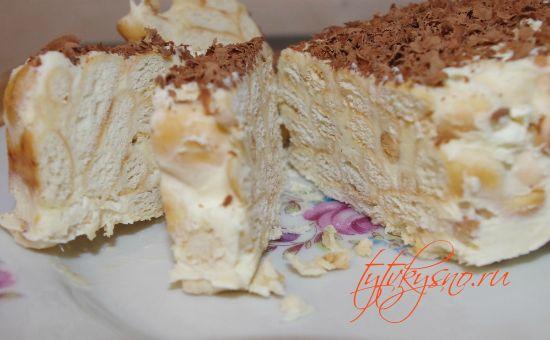 """простой Торт из печенья """"Рыбки"""" без выпечки"""