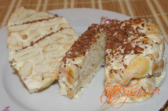 """Торт из печенья """"Рыбки"""" без выпечки"""