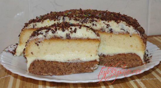 """Торт """"Птичье молоко"""" с манкой один из самых вкуснейших тортов"""