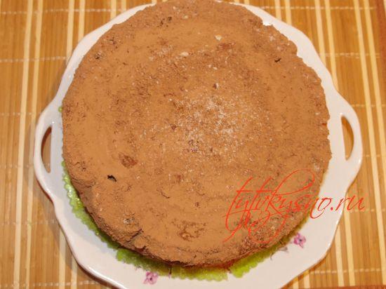 """Украсить торт можно шоколадной стружкой и какао порошком торт """"ТРУХЛЯВЫЙ ПЕНЬ"""". Рецепт с фото."""
