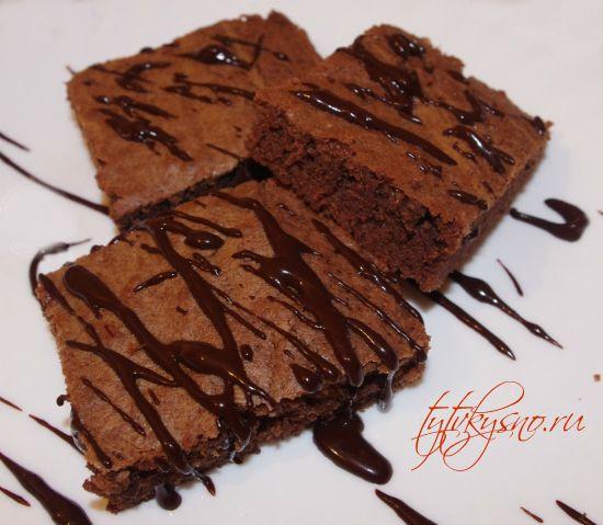 самый простой рецепт брауни-пирожное, классический рецепт с фото.