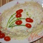 салат из ветчины и крабовых палочек