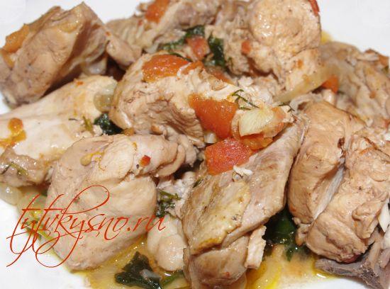 как вкусно приготовить Чахохбили из курицы в мультиварке