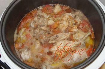 как готовить Чахохбили из курицы в мультиварке