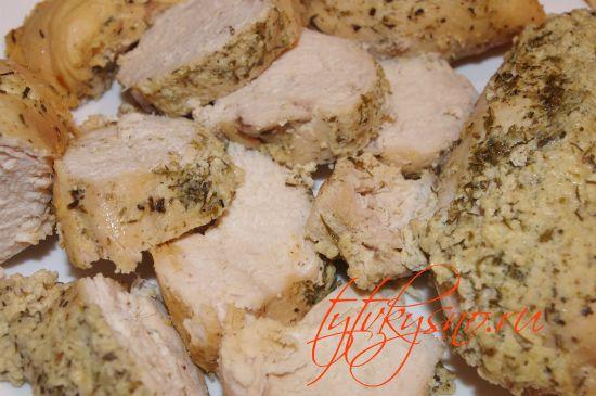 Рецепт с фото Курица в кефире с травами