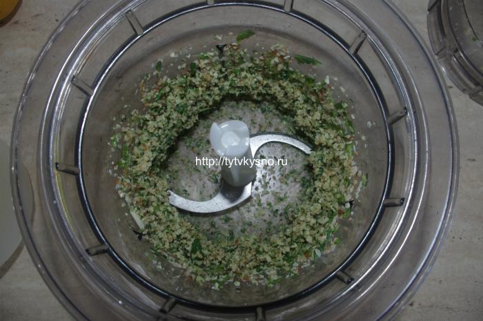 как приготовить соус песто в блендере