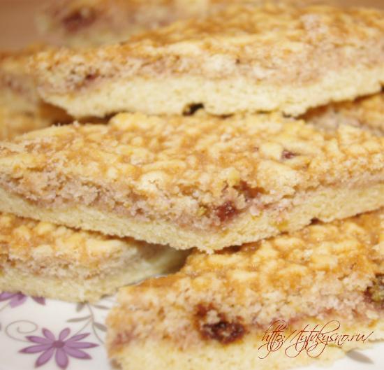 рецепт Пирог из тертого теста с вареньем простой, вкусный рецепт пирога на скорую руку