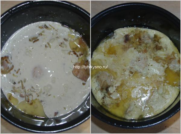 """для пошагового рецепта курица в сметанном соусе гульчехра:  7. Ставим блюдо тушиться. Время приготовления 30-40 минут. Я установила в мультиварке режим """"Мультиповар"""", время 35 минут."""