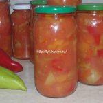 Лечо из болгарского перца с помидорами простой рецепт