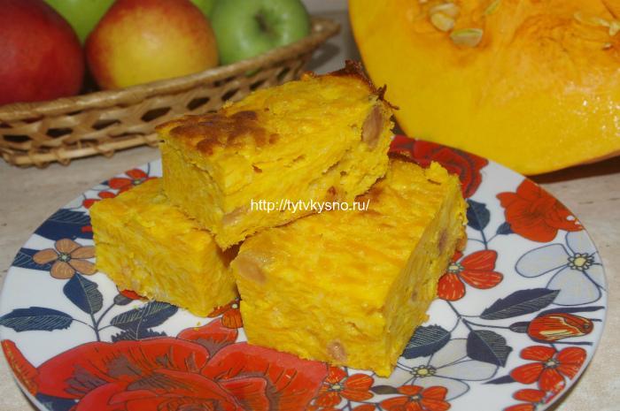 Запеканка из тыквы с манкой в духовке-вкусное диетическое блюдо