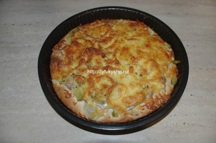 IMGP8373 пицца на дрожжах рецепт +с фото