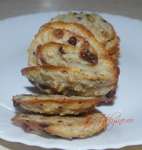 Овсяное печенье с изюмом и шоколадом фото