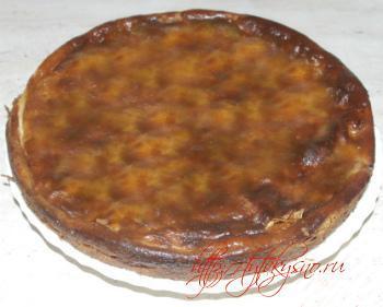 фото пирог из блинов с яблоками