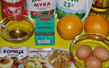 ингредиенты рецепта : Медовая коврижка с орехами