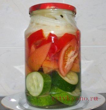 очень вкусный рецепт: Салат на зиму  с желатином, фото