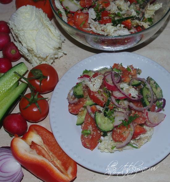 """Фото овощного салата с орехами """"Глехуард"""" пошаговый фото видео рецепт"""