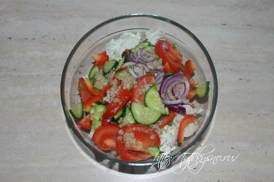 фото вкусного овощного салата Глехуард