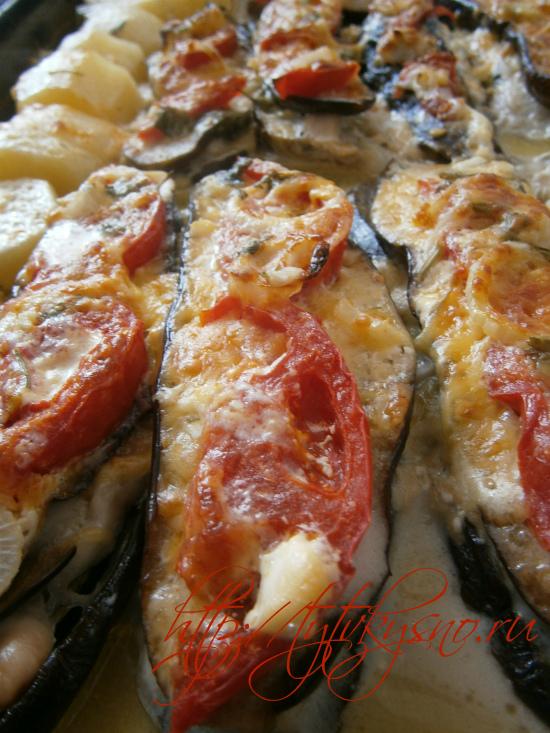 баклажаны и кабачки в духовке запеченные рецепты фото с