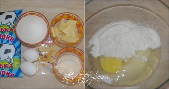 для рецепта Маковка:  готовим заварной крем.