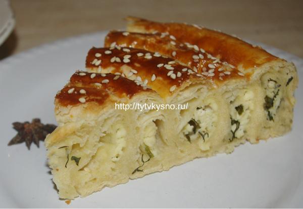 фото пирога из слоеного теста Улитка