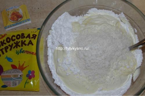 для рецепта торт из печенья с бананом и кокосовой стружкой крем