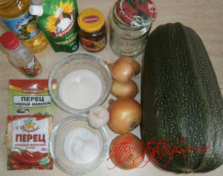 Кабачковая икра ингредиенты