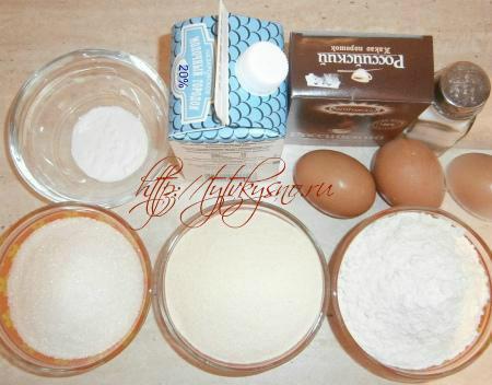 ингредиенты для шоколадного манника