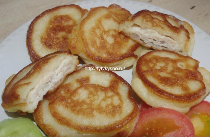 Жульен с курицей и грибами в горшочках с картошкой в духовке рецепт