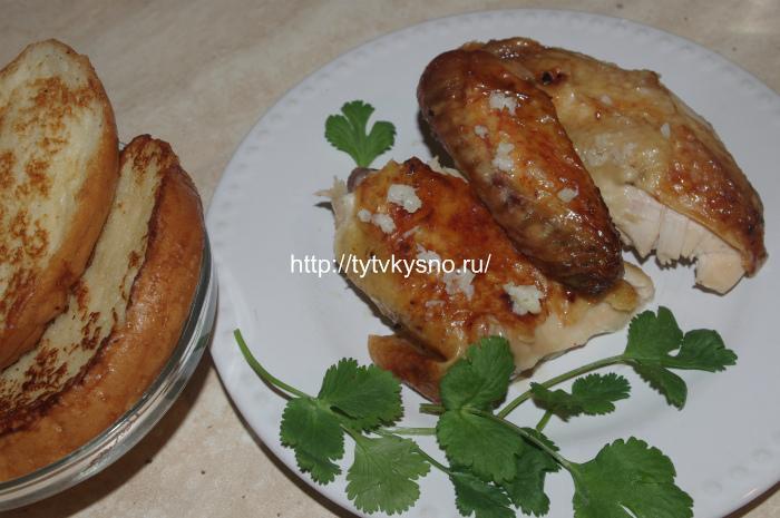 Рецепт курица по грузински Шкмерули