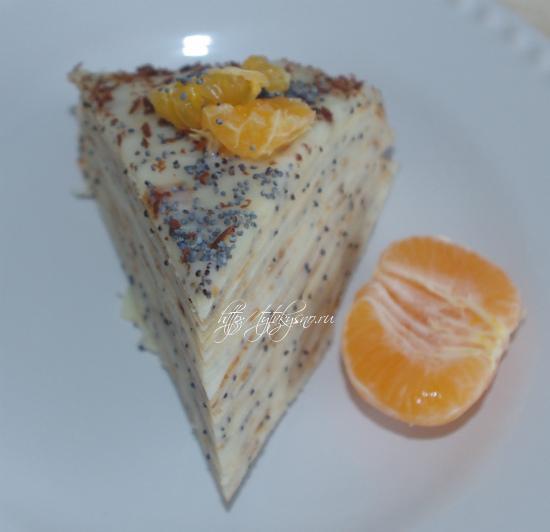 блинный торт-пирог с маком Маковка
