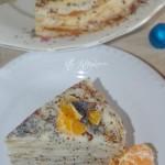 Блинный торт с маком