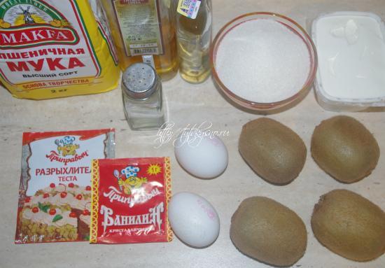 ингредиенты перевернутый пирог с киви