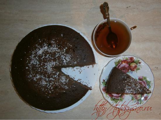 Шоколадный манник - очень простой, вкусный пирог