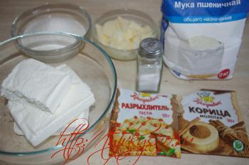 ингредиенты рецепта печенья из творога