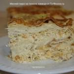 Пирог из тонкого лаваша с мясом