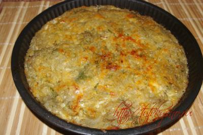 как приготовить картофельный пирог с сыром и грибами  в духовке