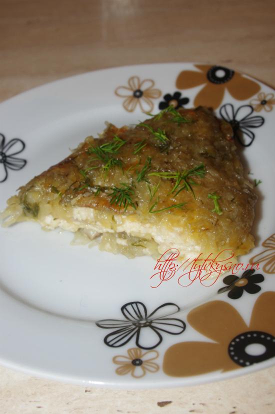 как приготовить картофельный пирог с сыром и грибами рецепт с фото