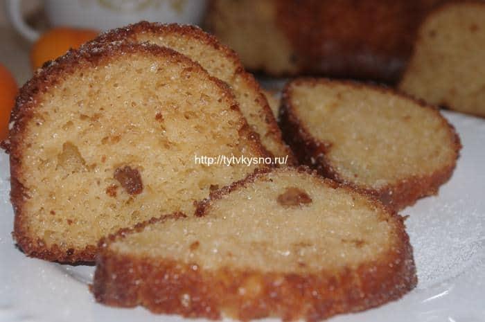 Творожный кекс с изюмом (на растительном масле) фото