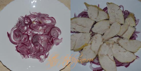 для рецепт первый слой маринованный лук