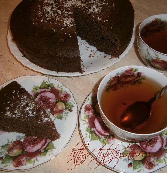 простая быстрая доступная выпечка к чаю шоколадный манник