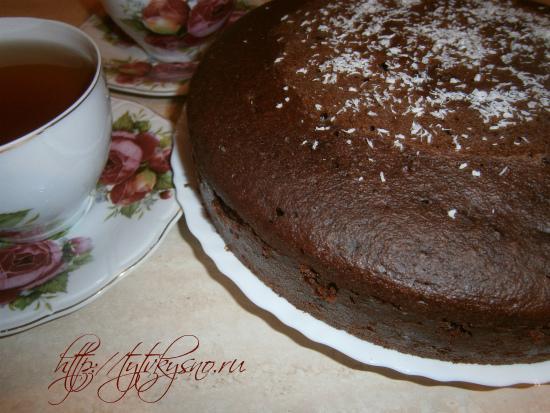 пошаговое фото рецепта шоколадный манник