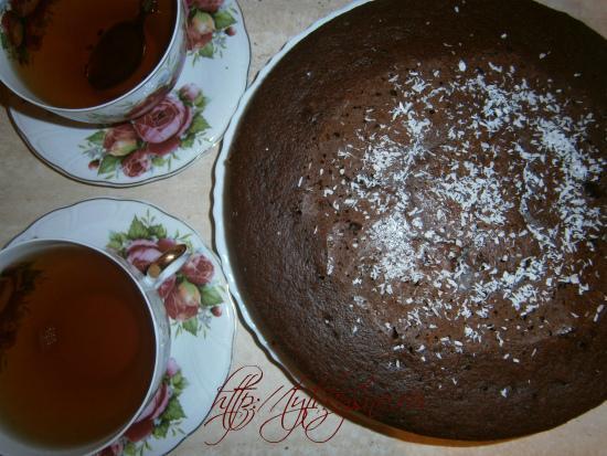 пирог к чаю шоколадный манник фото